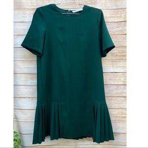 Zara Pleated Green Dress